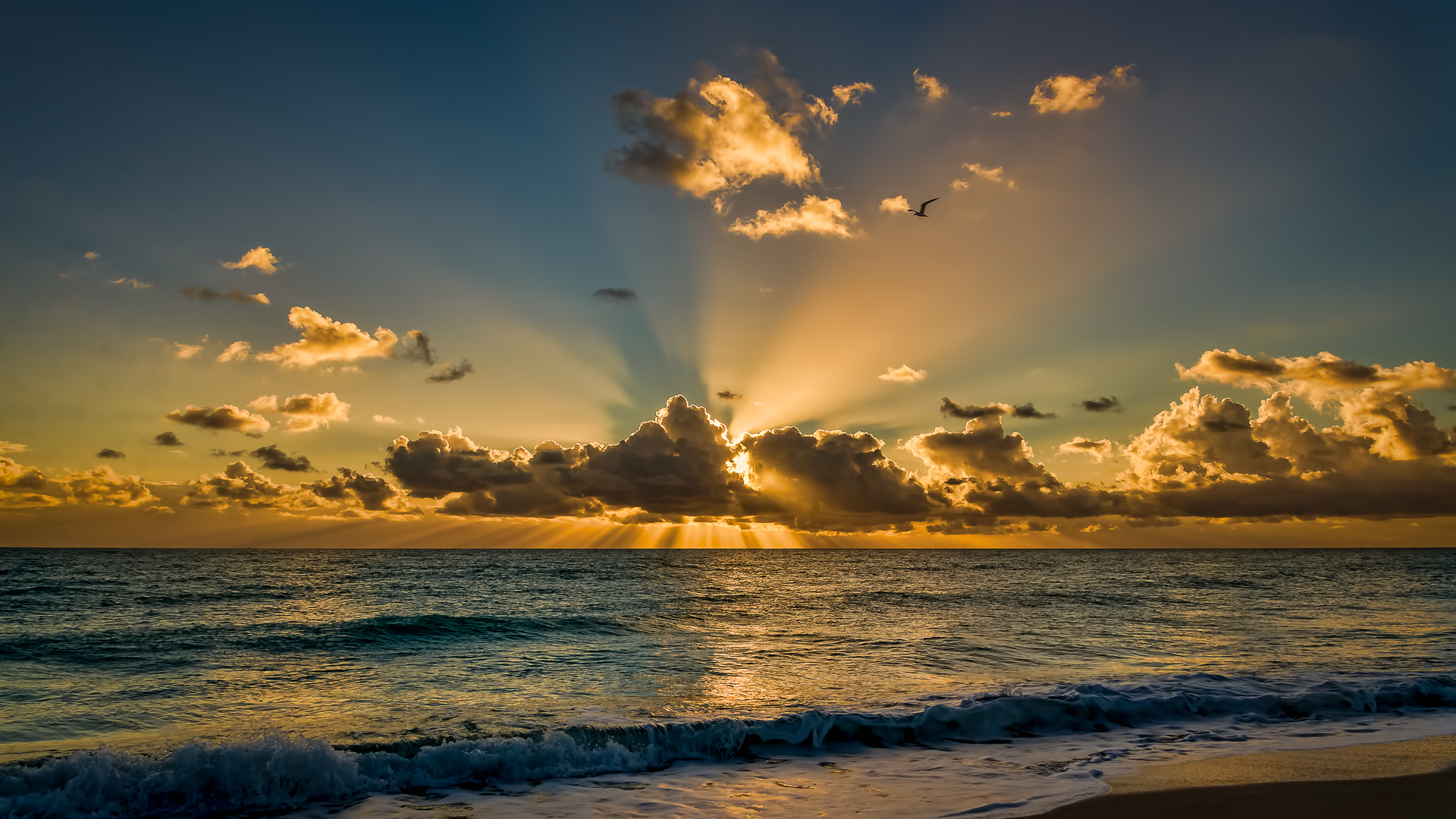 Sunrise at Miami beach