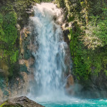 Hike to the sky-blue color Rio Celeste waterfalls