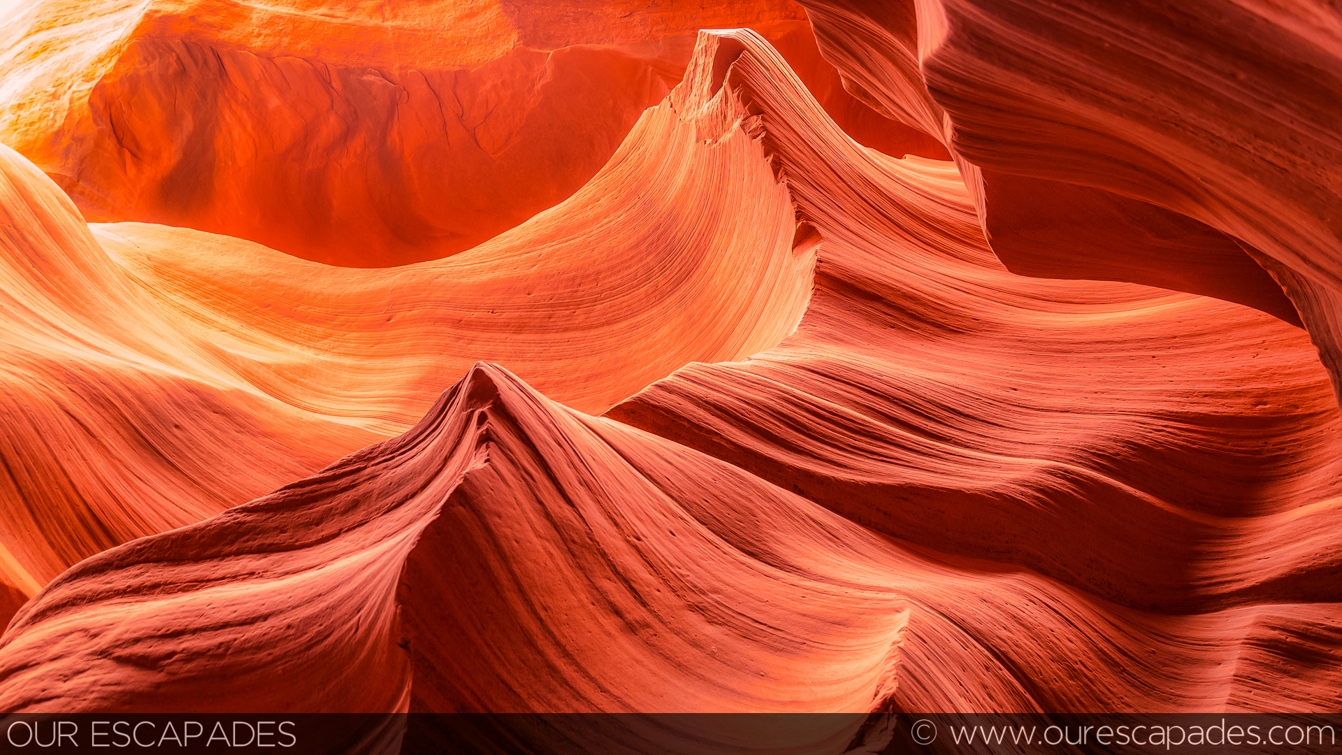 """Twin Peaks"" at Lower Antelope Canyon"
