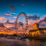 Sunset at London Eye…