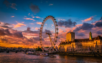 Our Escapades - London Eye Sunset