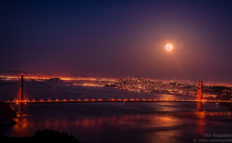 Our Escapades - San Francisco Supermoon