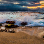 Sunset at Ho'okipa Beach…